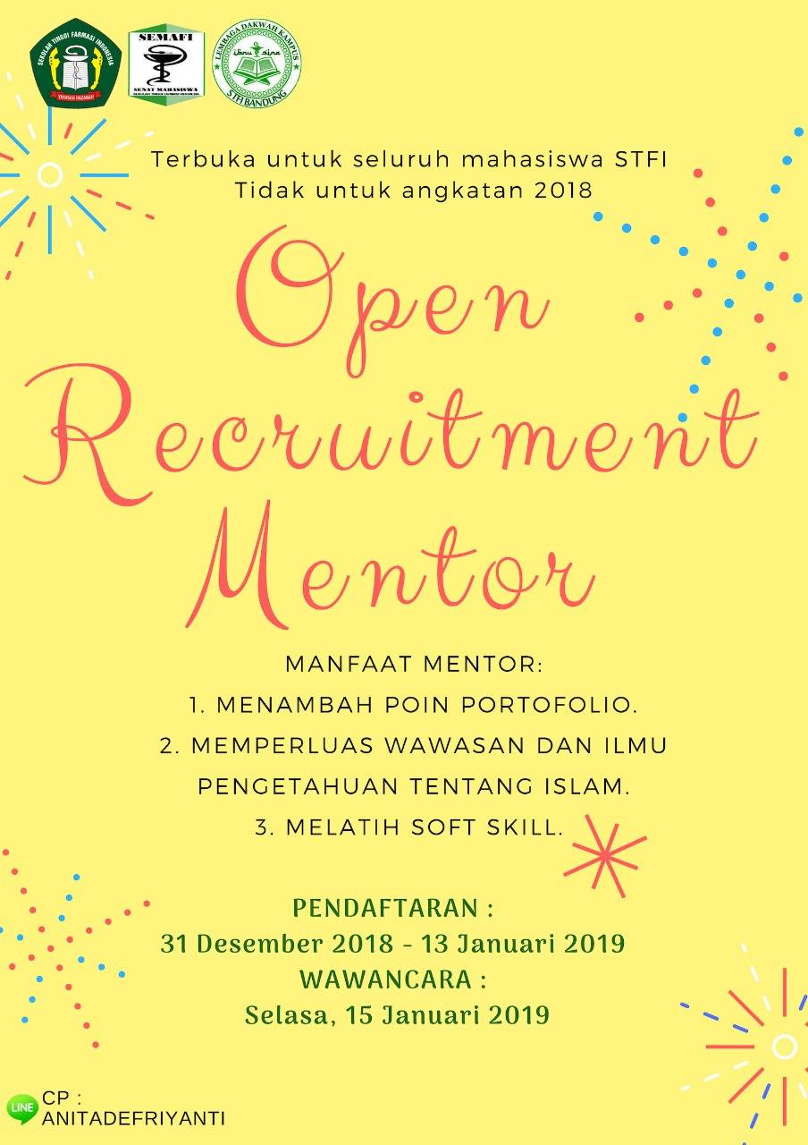 OPEN RECRUITMENT MENTOR 2019